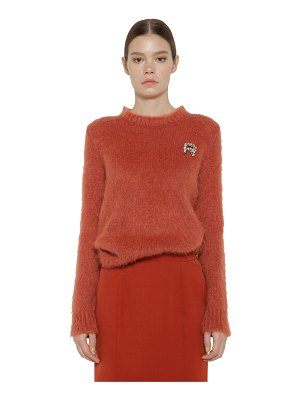 Rochas Embellished mohair blend knit sweater