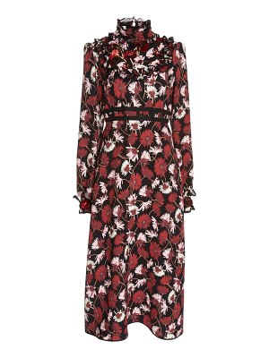 Rochas floral cady midi dress
