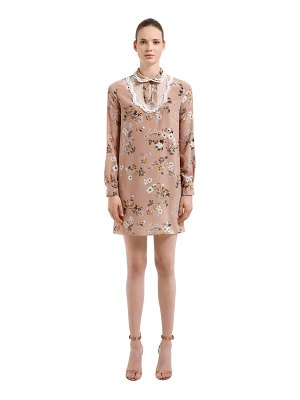 Rochas Floral printed silk crepe de chine dress