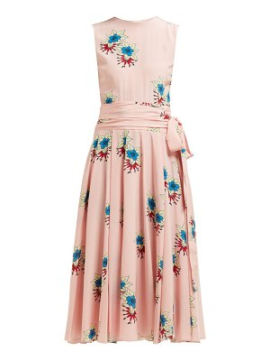 Rochas floral-printed silk crepe de chine midi dress
