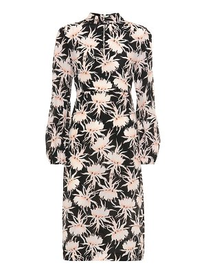 Rochas floral silk midi dress