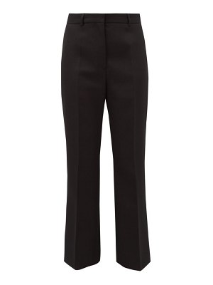 Rochas high-rise kick-flare wool trousers