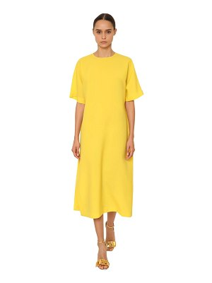 Rochas Light wool canvas midi dress