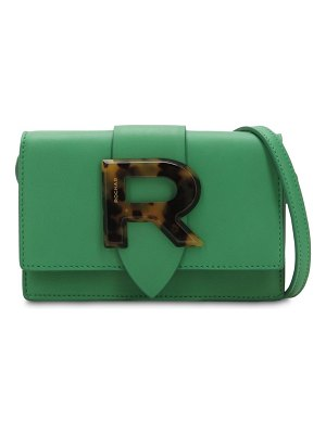 Rochas Logo leather shoulder bag