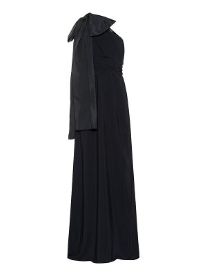 Rochas One-shoulder crêpe gown
