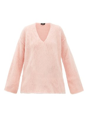 Rochas oversized mohair-blend trapeze sweater