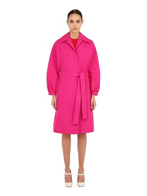 Rochas Oversized techno faille trench coat
