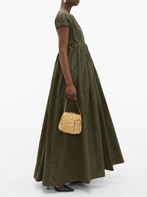 Rochas prosa gathered faille gown
