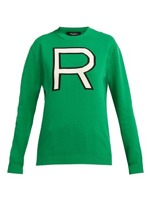 Rochas logo intarsia cotton sweater