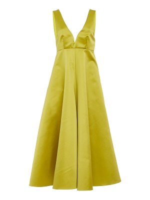 Rochas satin midi dress