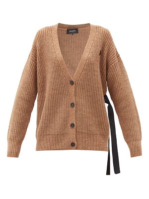 Rochas side-ties cable-knit cardigan