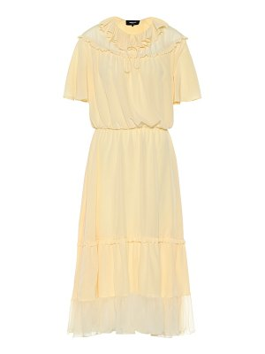 Rochas Silk-chiffon midi dress