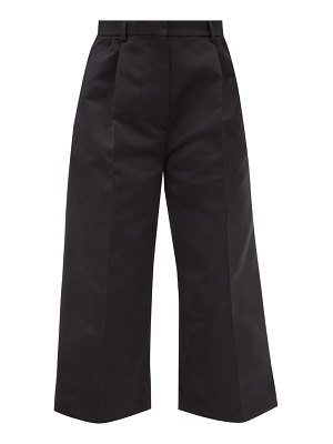 Rochas straight-leg duchess-satin cropped trousers