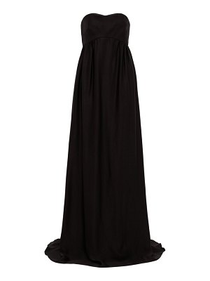 Rochas strapless faille gown