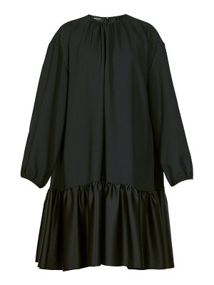 Rochas tie back gathered crepe dress