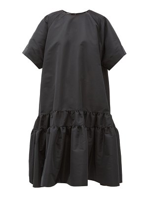 Rochas tie-back tiered faille dress
