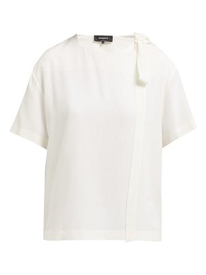 Rochas tie neck silk blouse