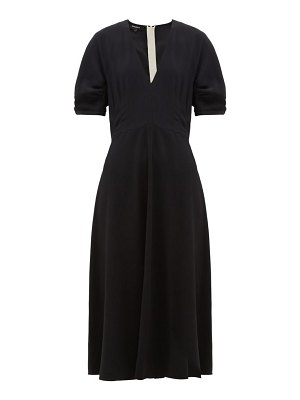 Rochas twill cady dress
