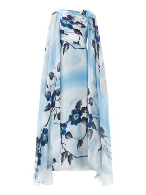 Rodarte hand-painted floral silk gown