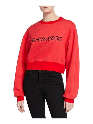 Rodarte Radarte Embroidered Crop Sweatshirt