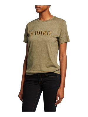 Rodarte Radarte Foil Short-Sleeve T-Shirt