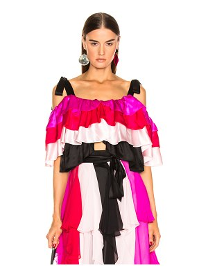 Rodarte Tiered Off the Shoulder Blouse