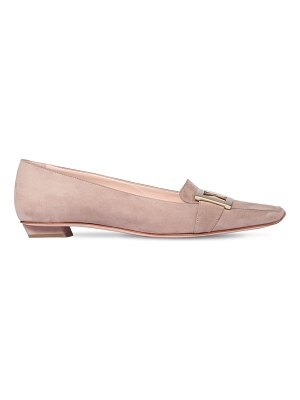 Roger Vivier 25mm belle vivier suede loafers