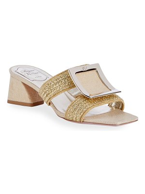 Roger Vivier Biki Viv' 45mm Piping Mule Sandals