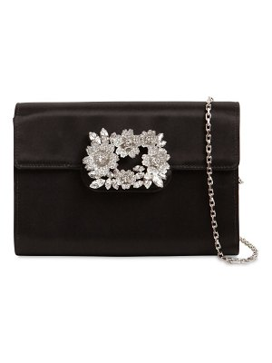 Roger Vivier Bouquet embellished satin clutch