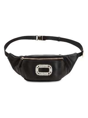Roger Vivier Crystal buckle leather belt bag