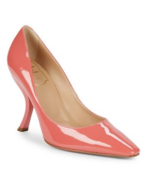 Roger Vivier Curved-Heel Patent Leather Pumps