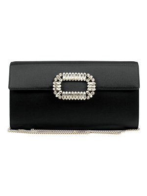 Roger Vivier Envelope Satin Flap Clutch Bag