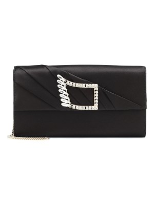 Roger Vivier envelope wing satin clutch