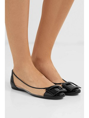 Roger Vivier gommette pvc and patent-leather ballet flats