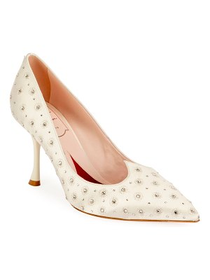 Roger Vivier I Love Vivier Heart-Shape Twinkle Satin Pumps