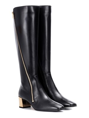 Roger Vivier polly zip leather boots
