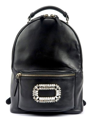 Roger Vivier Sexy Choc Buckle Smooth Leather Backpack