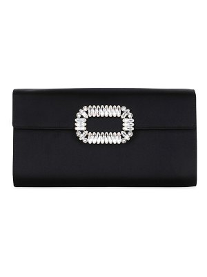 Roger Vivier Silk satin envelope clutch