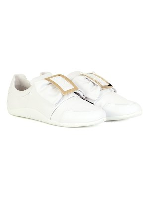 Roger Vivier sporty viv' bow leather sneakers