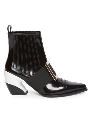 Roger Vivier viv leather western booties