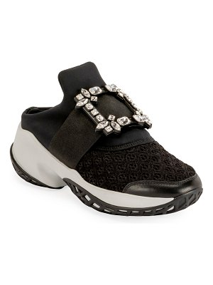 Roger Vivier Viv' Run Crystal-Buckle Mule Sneakers
