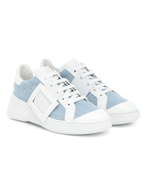 Roger Vivier viv skate leather sneakers