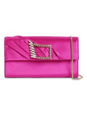 Roger Vivier Wings silk envelope clutch