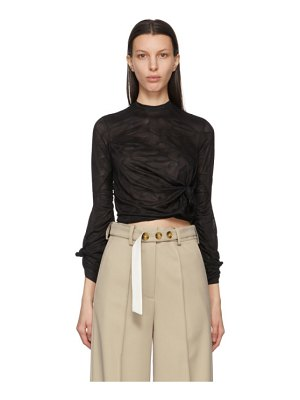 Rokh beige long split leg trousers