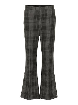 Rokh checked cropped flared pants