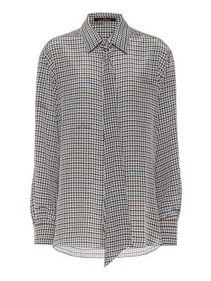 Rokh houndstooth silk blouse