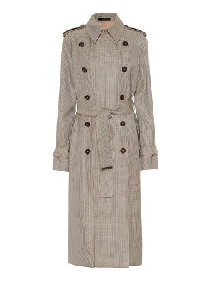 Rokh houndstooth wool trench coat