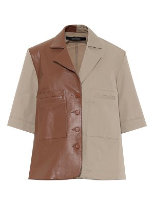 Rokh leather and cotton shirt