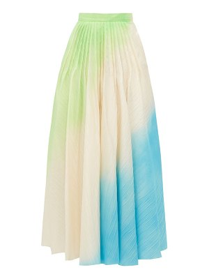 Roksanda ambra hand sprayed ripple textured skirt