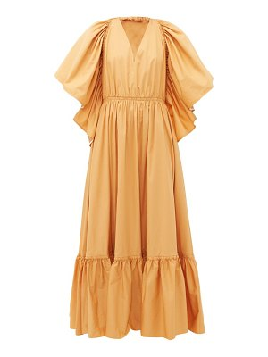 Roksanda constance halterneck cotton-poplin maxi dress